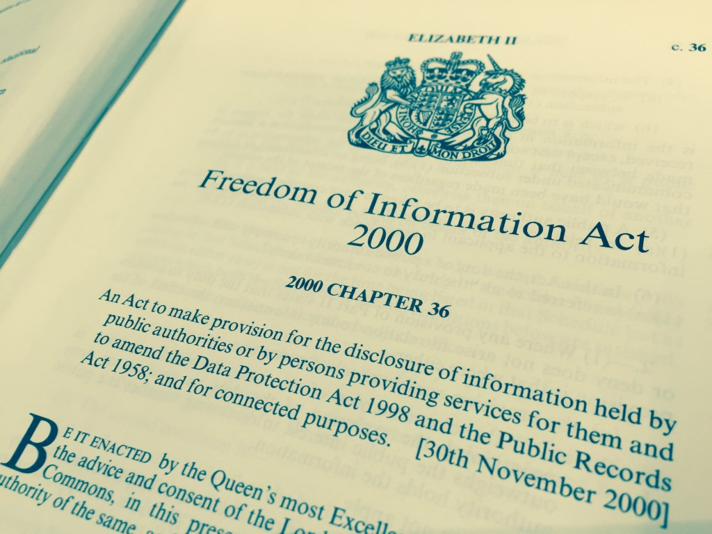 Photo: Freedom of Information Act 2000