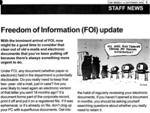 Cabinet Office staff newsletter 'The Weekly', 13 September 2004